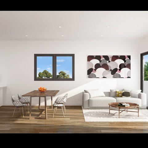 Apartment kitchen/living/balcony
